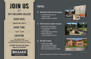 1-20-14 BEL14-009 Belgard College Promo Invite