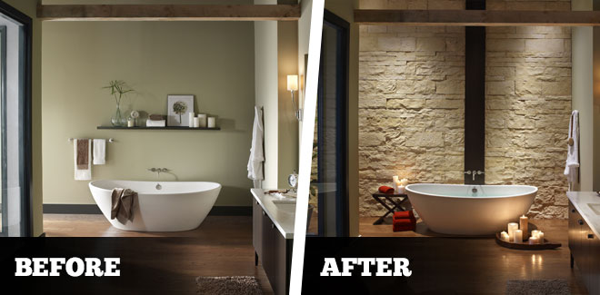 Turn your bathroom into a spa taylor concrete products inc for Looking for bathroom designs