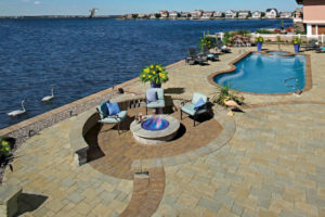 Patio close to the water