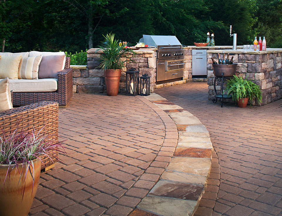 15 Patio Ideas That Will Make You Smile This Spring ... on Back Concrete Patio Ideas id=86845